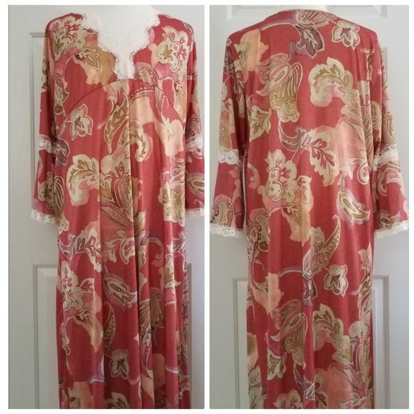 Plus Size Floral MuuMuu Maxi House Dress Nightgown
